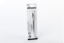 Outillage pour maquettes en bois : Cutter en aluminium plus 4 lames de recharge - AMATI 07493 7493